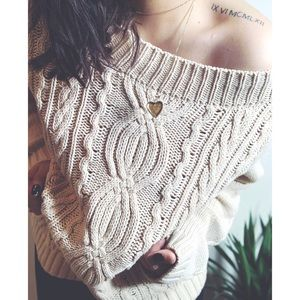 CHICOS • chunky knit sweater